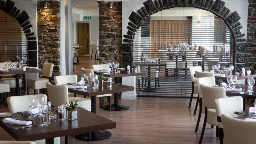 2 AA Rosette Restaurant at Sandy Cove Hotel Devon