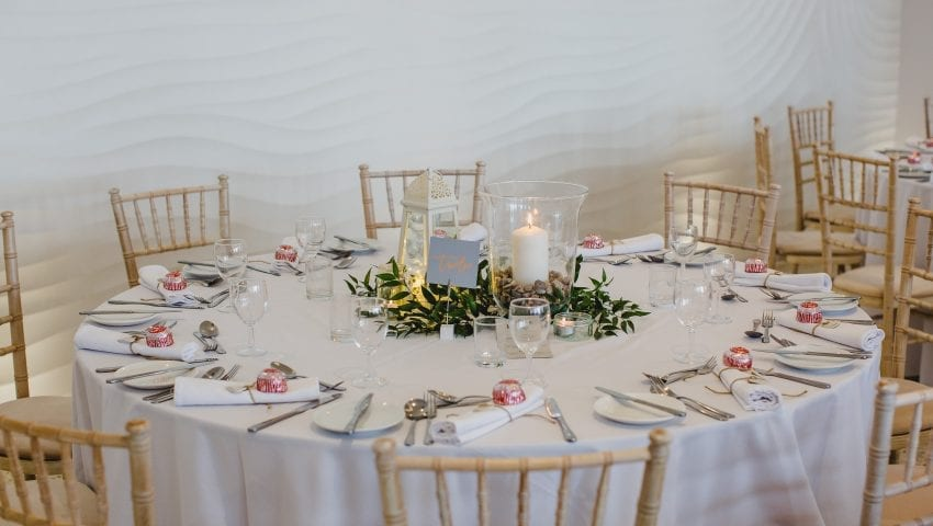 a picture of a laid out wedding table